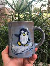 Load image into Gallery viewer, *Seconds* Penguin Mug with Cobalt Interior
