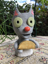 Load image into Gallery viewer, Taco Cat Ceramic Planter // Adorable Cat with Taco Pothead