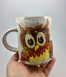 Autumn Owl Vintage Inspired Ceramic Mug