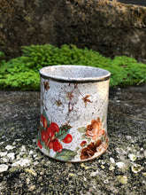 Load image into Gallery viewer, Small Swan and Cherries Ceramic Mug with White Gold Rim