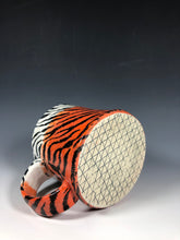 Load image into Gallery viewer, Tiger Stripe Mug in Orange and White