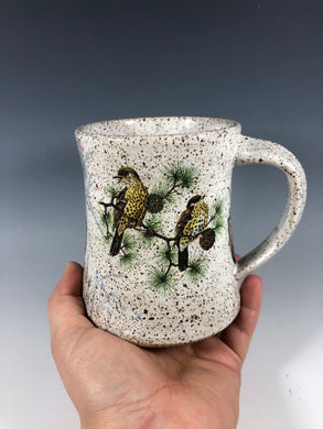 Wood Warblers Birds White Speckled Ceramic Mug
