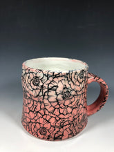 Load image into Gallery viewer, Rose Design Pink and White Ombre Ceramic Mug with White Interior