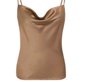 Satin Cowl Neck Cami Top