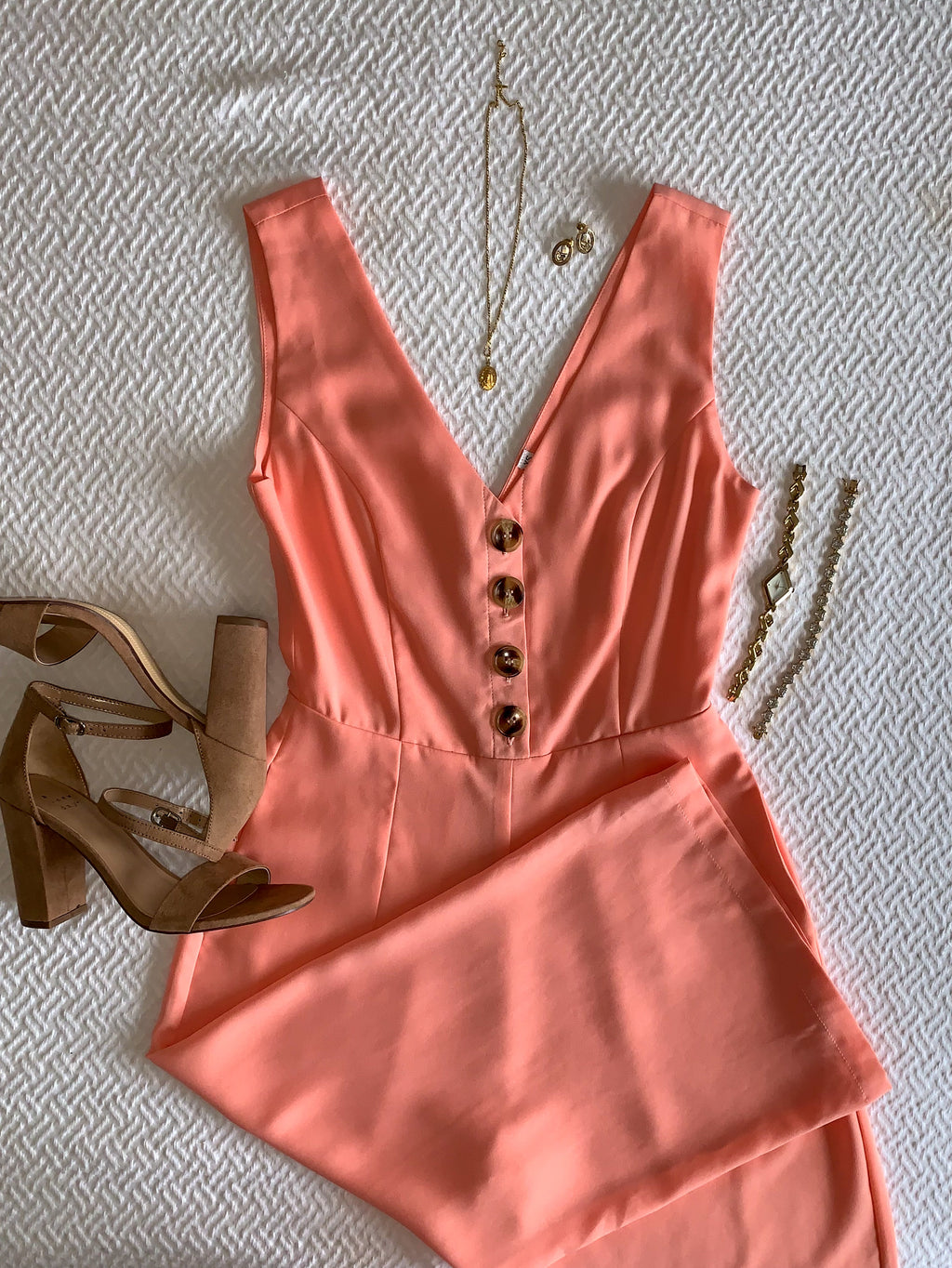 Peach Ankle Jumpsuit