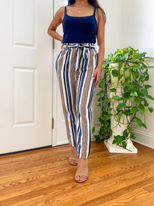 High Waisted Striped Pants