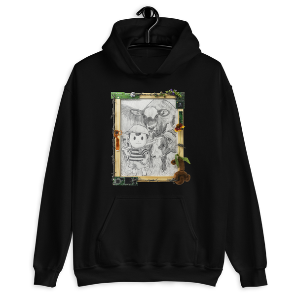 """delete me if u care (ness, abbot and costello)"" hoodie"