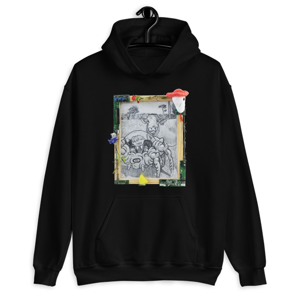 """are your feelings easily hurt?"" (heavily armed pokey + hoshi) hoodie"
