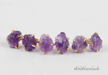 Load image into Gallery viewer, Dainty Amethyst Studs