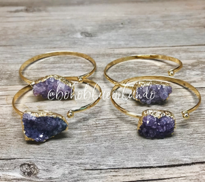Raw Amethyst Bangle
