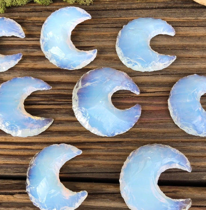 Opalite crescent moon add on