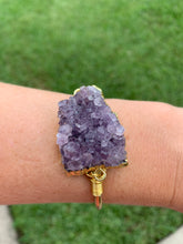 Load image into Gallery viewer, Amethyst Gold curve bangle(wholesale)