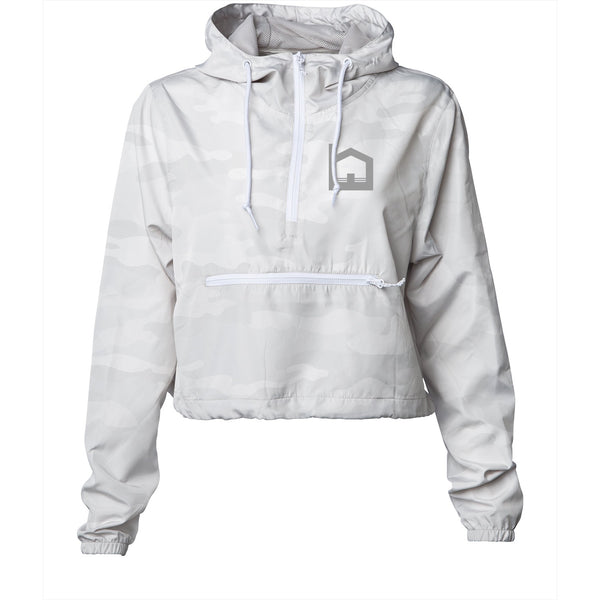 Featherweight Crop Windbreaker - White Camo