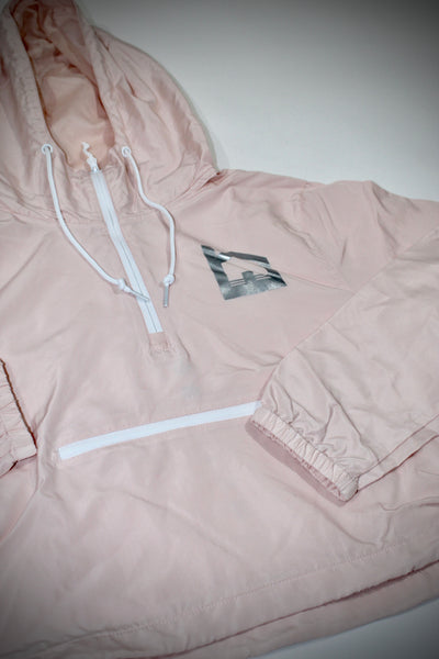 Featherweight Crop Windbreaker - Blush
