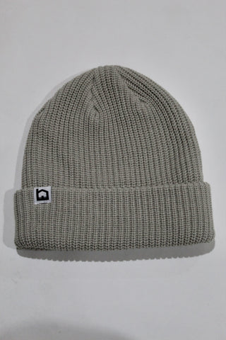 Knitted Beanie - Light Gray