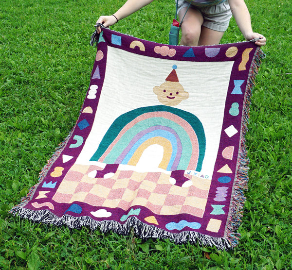 Rainbow Friend Woven Blanket