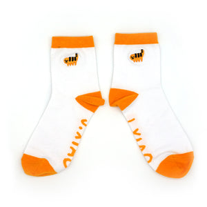 Cheese Puff Tiger Socks