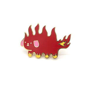 Flame Dog Pin