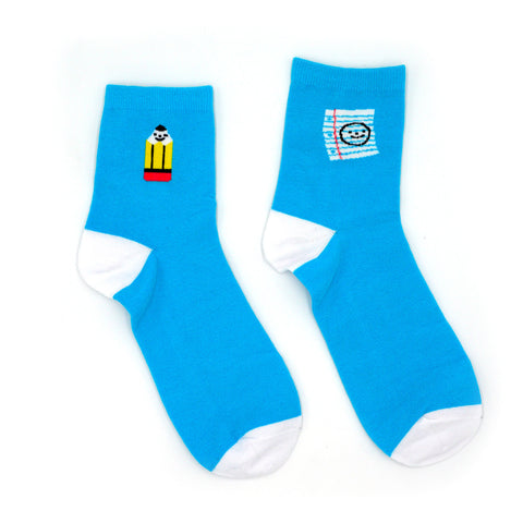 Paper and Pencil Socks