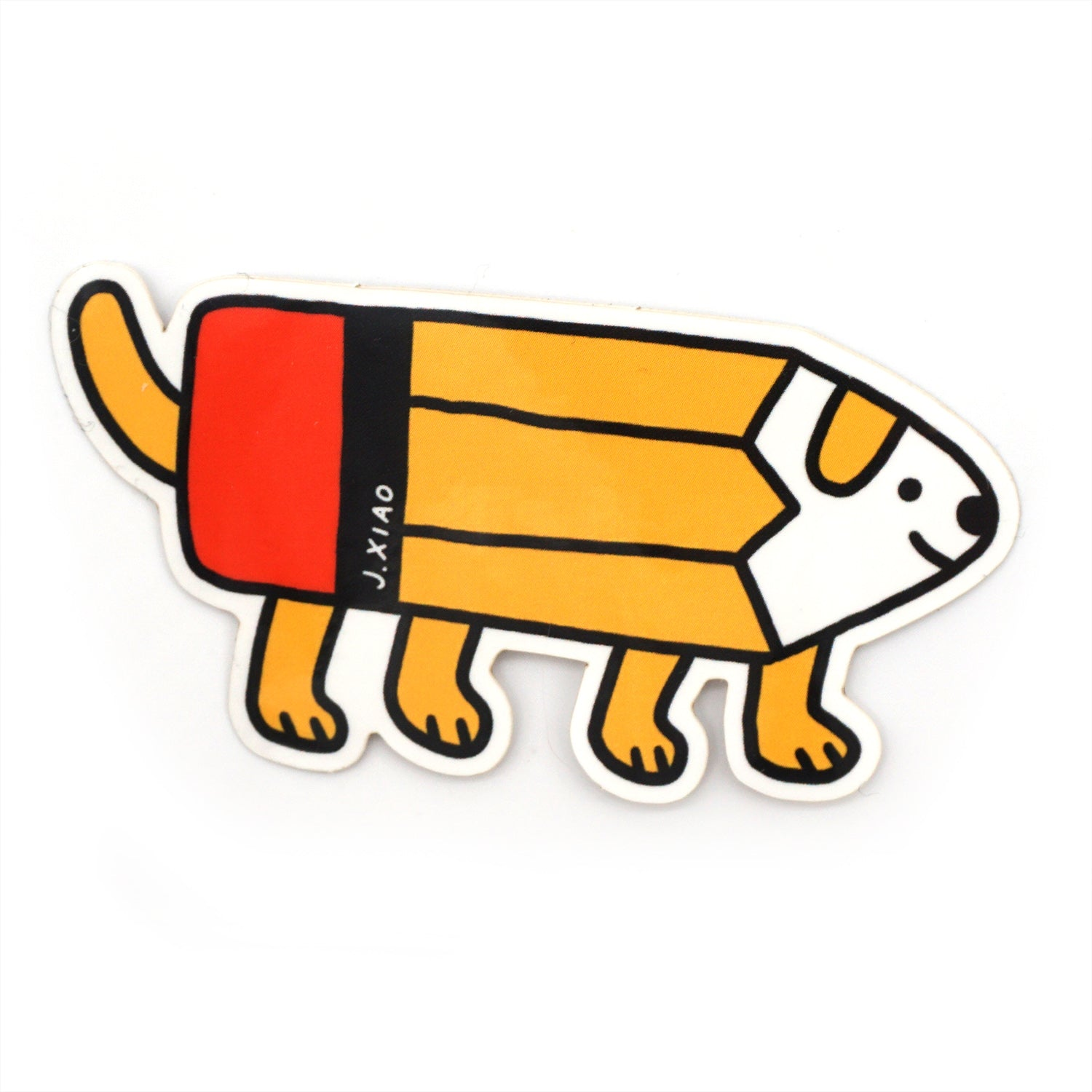 Pencil Dog Sticker
