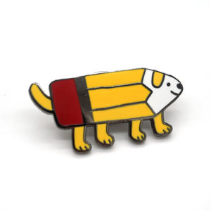 Pencil Dog Pin