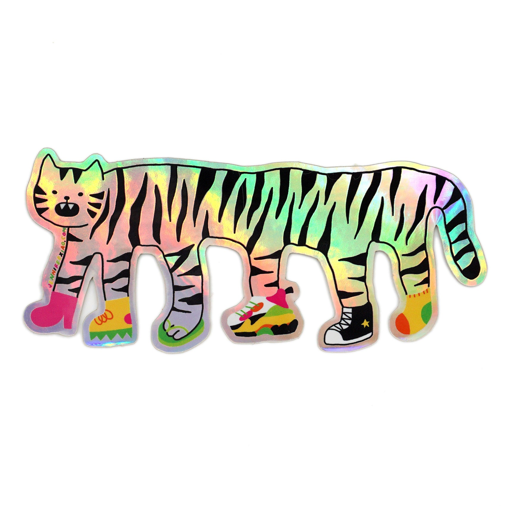 Shiny Tiger Shoes Sticker