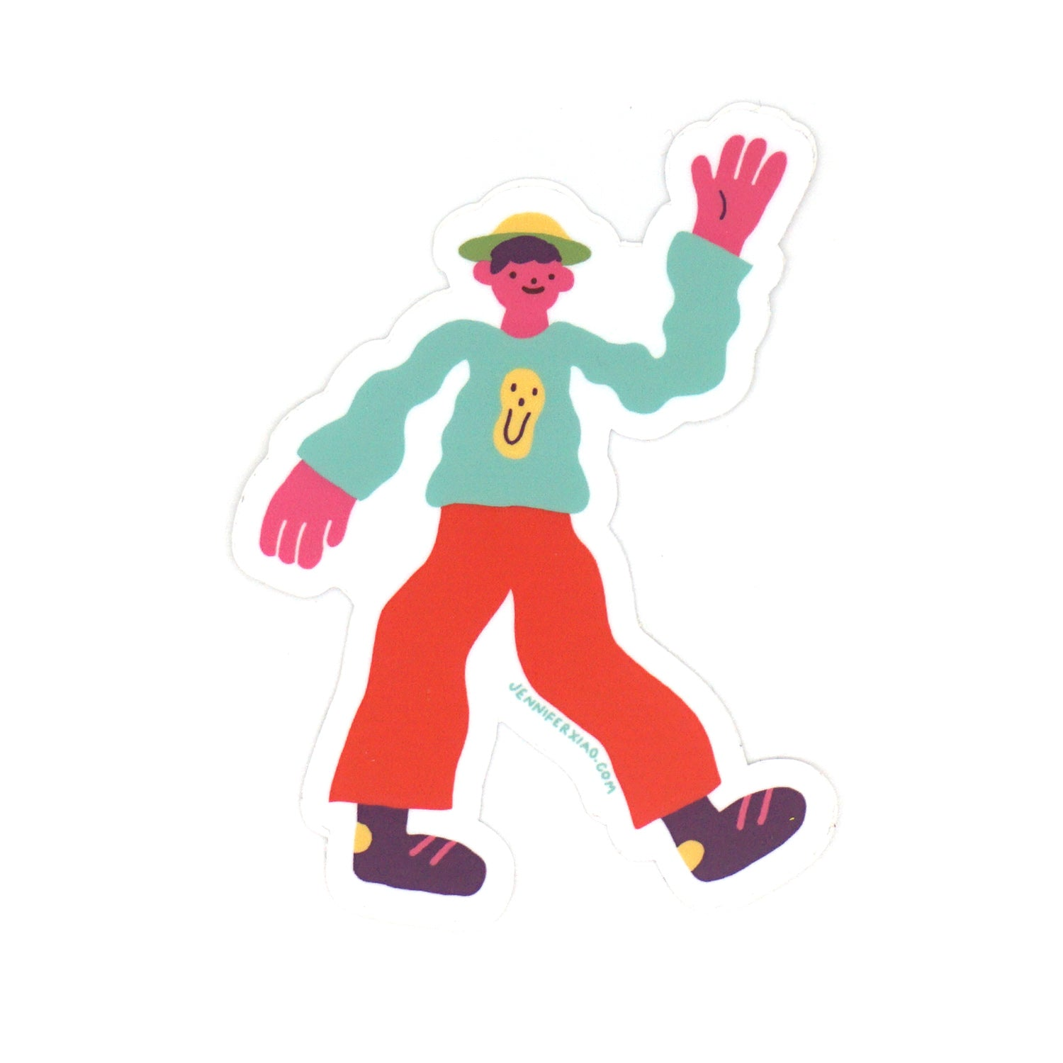 Wavy Man Sticker