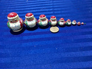 10 Piece Miniature Santa