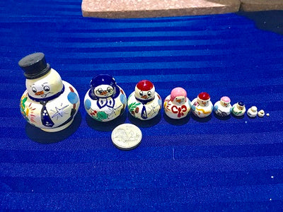 10 Piece Miniature Snowman