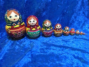10 Piece Zagorsk Pot Belly with Blue Scarf and Pink Apron