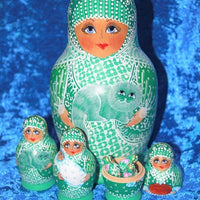 13 Piece Green Babushka