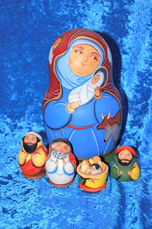 13 Piece Nativity Babushka
