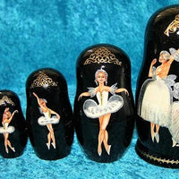 5 Piece Black Background Ballet