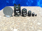 5 Piece Miniature Black Cat