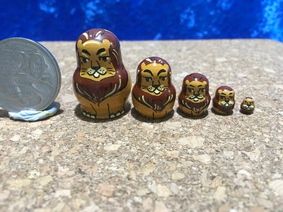 5 Piece Miniature Lion