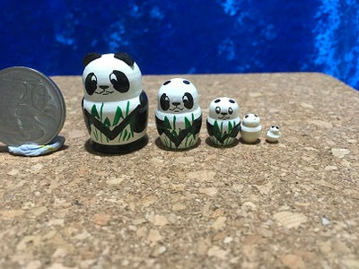 5 Piece Miniature Panda