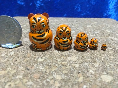 5 Piece Miniature Tiger