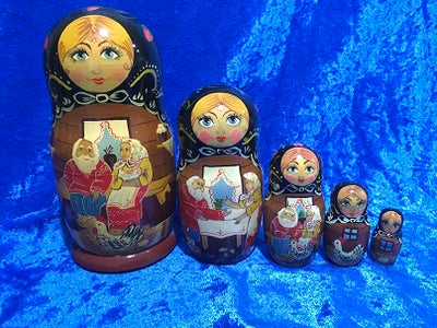 5 Piece Matryoshka Speckled Hen