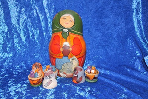 13 Piece Babushka with Cats