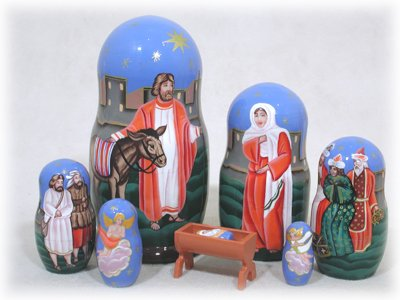 7 Piece Nativity with Manger