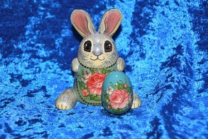 2 Piece Bunny with Blue Egg