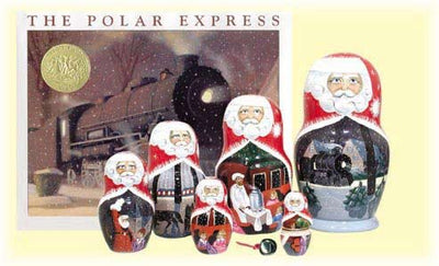 7 Piece Polar Express Book and Doll Set