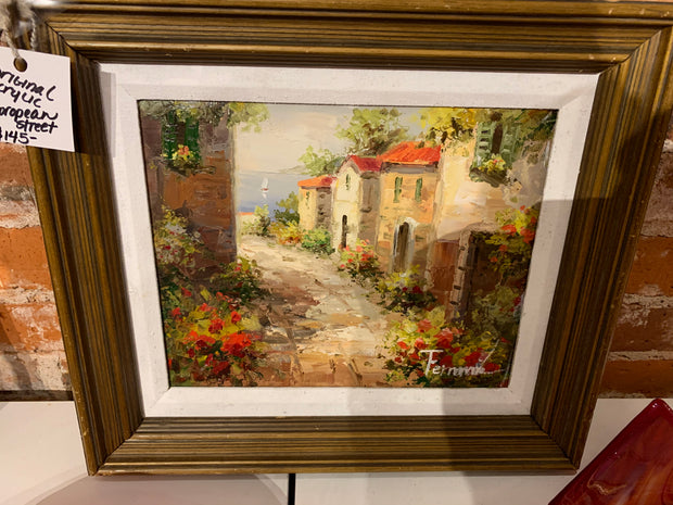 "Fernmy ""European Scene"" Original Signed painting"