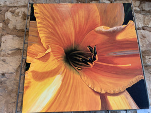 "Dierberger ""Yellow Lily"" signed photographic print on canvas"