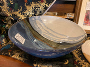 HHH large serving decorative multi-colored bowl
