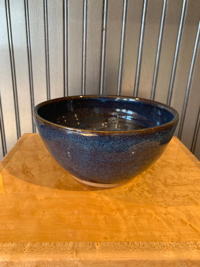 HHH Pottery bowl cereal size deep blue