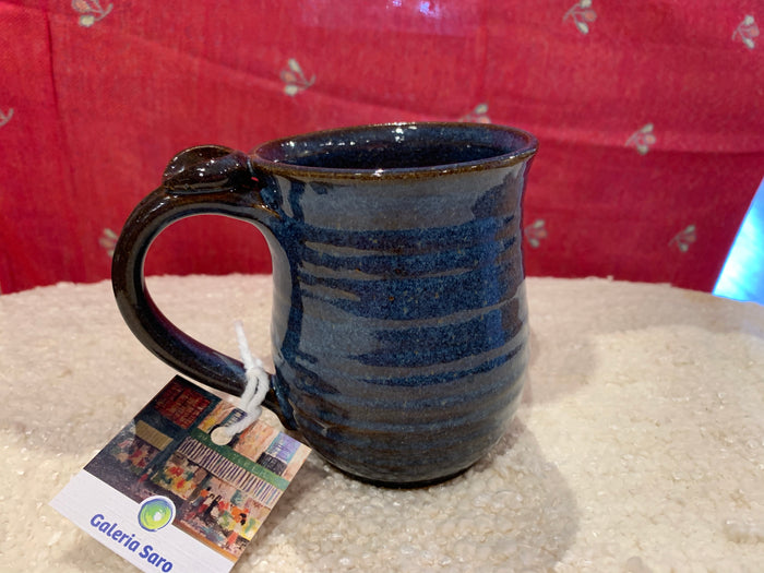 HHH mug with thumbprint on handle deep blue