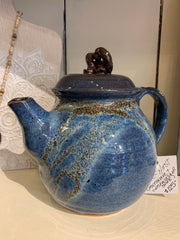 Pottery Lidded Decorative Teapots by Helen Hooper-Hirst