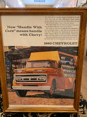 "Vintage ""Handle With Care"" Vintage 1960 Chevrolet ad"