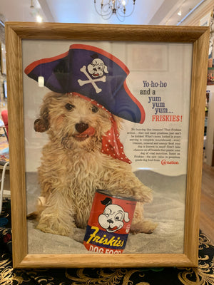Vintage Friskies dog food ad Print